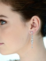 CIRCULAR DIAMANTES LONG DROP EARRING E398